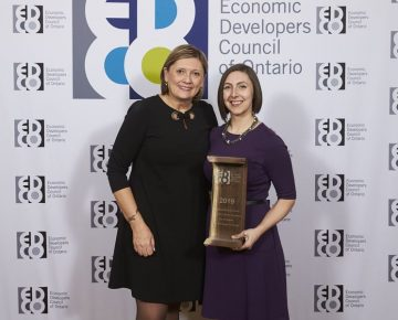 Heather Lalonde, CEO of EDCO and Michelle Samson, Economic Development Officer at the City of Vaughan.